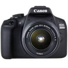 Cámara digital reflex canon eos 2000d + 18-55 is cmos 24.1mp digic 4+ FULL HD 9 puntos de referencia WIFI nfc