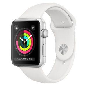 Apple Watch Series 3 8GB 38mm Aluminio Plata Con Correa Deportiva Blanca