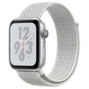 Apple Watch Nike Series 4 16GB 40mm Plata con Correa Loop Nike Blanco Polar