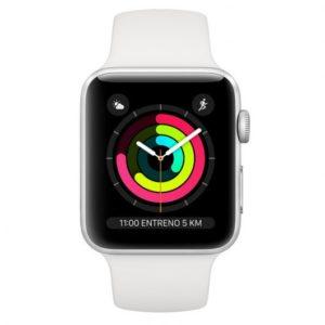 Apple Watch Series 3 GPS 42mm Aluminio Plata Con Correa Deportiva Blanca