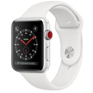 Apple Watch Series 3 GPS + Cellular 38mm Aluminio Plata Con Correa Deportiva Blanca