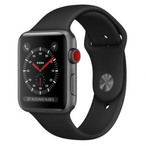 Apple Watch Series 3 GPS + Cellular 42mm Aluminio Gris Espacial Con Correa Deportiva Negra
