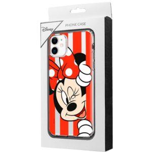 Carcasa iPhone 11 Licencia Disney Minnie Rojo