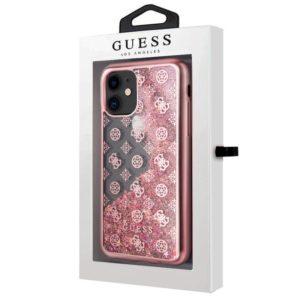 Carcasa iPhone 11 Licencia Guess Liquid Rosa