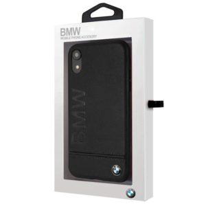 Carcasa iPhone XR Licencia BMW Piel Negro