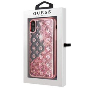 Carcasa iPhone XR Licencia Guess Liquid Rosa