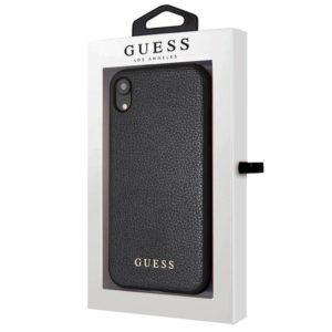 Carcasa iPhone XR Licencia Guess Piel Negra
