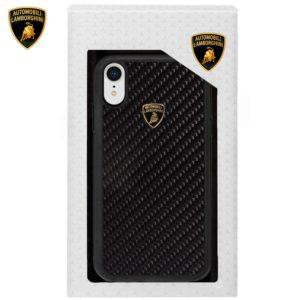 Carcasa iPhone XR Licencia Lamborghini Carbono Negro