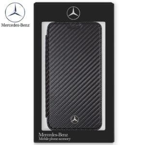Funda Flip Cover IPhone XR Licencia Mercedes-Benz Negro