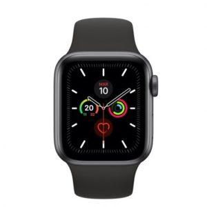 Apple Watch Series 5 GPS 40mm Gris Espacial con Correa Deportiva Negra