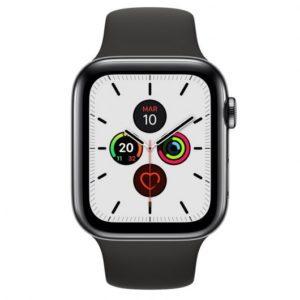 Apple Watch Series 5 GPS 40mm + Cellular Acero Inoxidable Negro Espacial con Correa Deportiva Negra