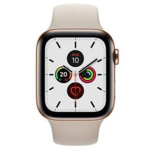 Apple Watch Series 5 GPS 40mm + Cellular Acero Inoxidable Dorado con Correa Deportiva Piedra