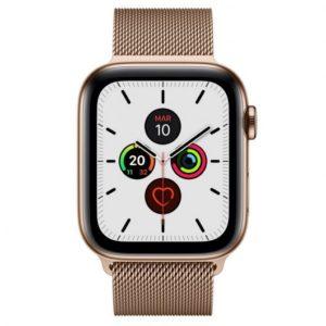 Apple Watch Series 5 GPS 40mm + Cellular Acero Inoxidable Dorado con Correa Metálica Dorada