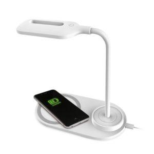 Lámpara Dock Base Cargador Smartphones Inalámbrico Qi Platinet Blanco