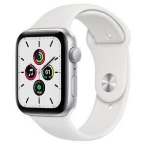 Apple Watch SE GPS 32GB 44mm Aluminio Plata/Correa Deportiva Blanca