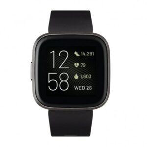 Fitbit Versa 2 Negro/Carbon Aluminio