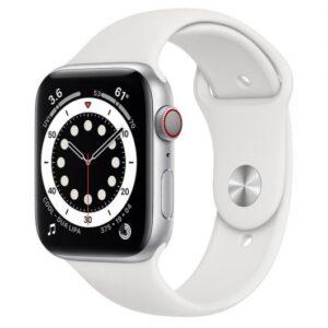 Apple Watch Series 6 GPS + Cellular 44mm Aluminio Plata/Correa Deportiva Blanca