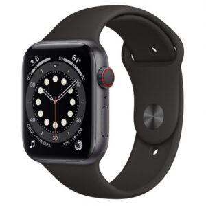 Apple Watch Series 6 GPS + Cellular 44mm Aluminio en Gris Espacial/Correa Deportiva Negra