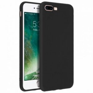 Funda Silicona IPhone 7 Plus / IPhone 8 Plus (Negro)