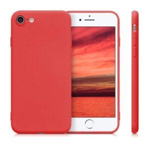 Funda Silicona IPhone 7 / 8 / SE (2020) (Rojo)
