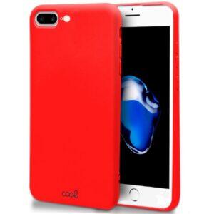 Funda Silicona IPhone 7 Plus / IPhone 8 Plus (Rojo)