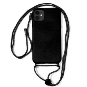 Carcasa IPhone 11 Cordón Liso Negro