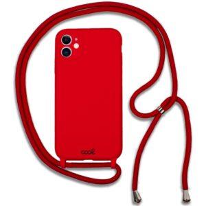 Carcasa IPhone 11 Cordón Liso Rojo
