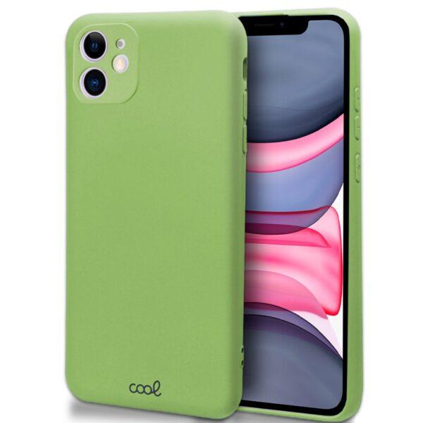 Funda iPhone 11 verde pistacho silicona