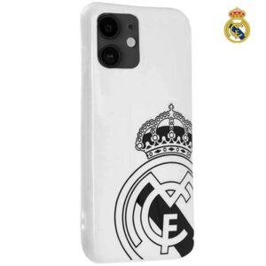 Carcasa IPhone 11 Licencia Fútbol Real Madrid Blanca Escudo