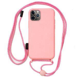 Carcasa IPhone 11 Pro Cordón Liso Rosa