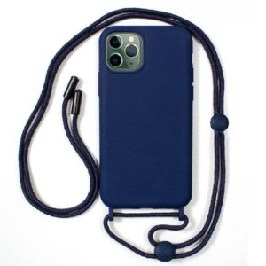 Carcasa IPhone 11 Pro Max Cordón Liso Azul