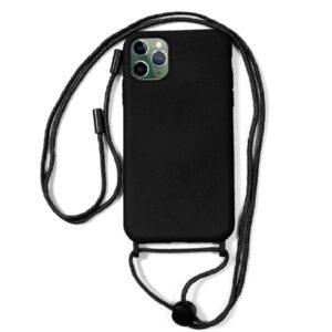 Carcasa IPhone 11 Pro Max Cordón Liso Negro