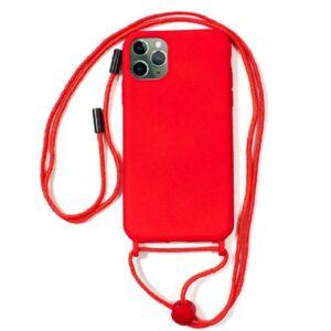 Carcasa IPhone 11 Pro Max Cordón Liso Rojo