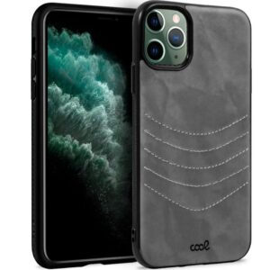 Carcasa IPhone 11 Pro Max Leather Bordado Gris