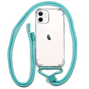 Carcasa IPhone 12 Mini Cordón Celeste