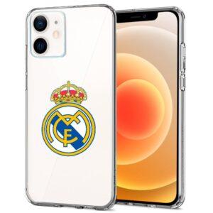Carcasa IPhone 12 Mini Licencia Fútbol Real Madrid Transparente
