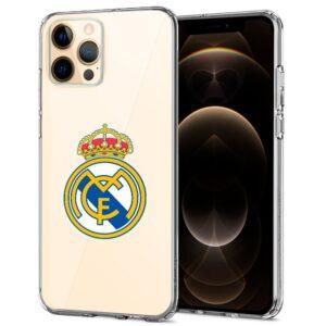 Carcasa IPhone 12 Pro Max Licencia Fútbol Real Madrid Transparente