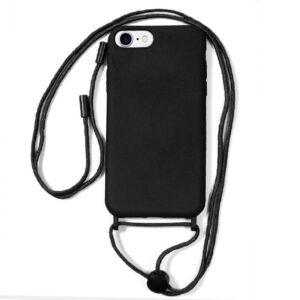 Carcasa IPhone 6 / 7 / 8 / SE (2020) Cordón Liso Negro
