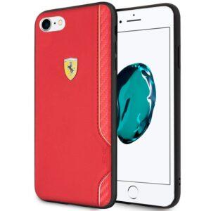 Carcasa IPhone 6 / 7 / 8 / SE (2020) Licencia Ferrari Piel Rojo