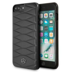 Carcasa IPhone 6 Plus / IPhone 7 Plus / 8 Plus Licencia Mercedes-Benz Piel Negro