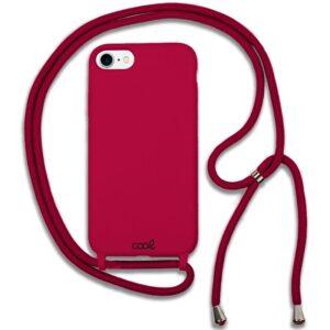 Carcasa IPhone 7 / 8 / SE (2020) Cordón Liso Burdeos