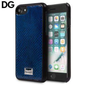 Carcasa IPhone 7 / 8 / SE (2020) Licencia Dolce Gabbana Azul Serpiente