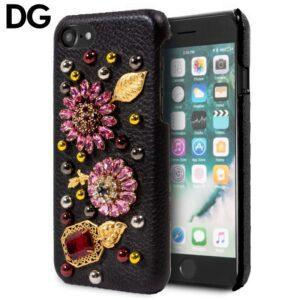 Carcasa IPhone 7 / 8 / SE (2020) Licencia Dolce Gabbana Perlas Flores