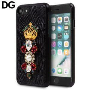 Carcasa IPhone 7 / 8 / SE (2020) Licencia Dolce Gabbana Perlas Negro