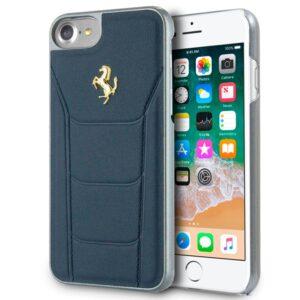 Carcasa IPhone 7 / 8 / SE (2020) Licencia Ferrari Piel Hard Azul