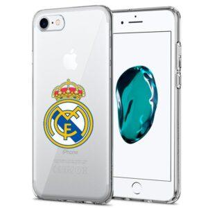 Carcasa IPhone 7 / 8 / SE (2020) Licencia Fútbol Real Madrid Transparente