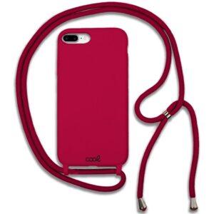 Carcasa IPhone 7 Plus / IPhone 8 Plus Cordón Liso Burdeos