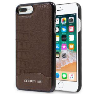 Carcasa IPhone 7 Plus / IPhone 8 Plus Licencia Cerruti Piel Marrón