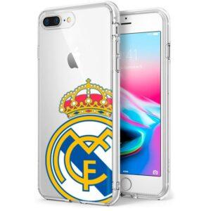Carcasa IPhone 7 Plus / IPhone 8 Plus Licencia Fútbol Real Madrid Transparente