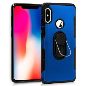 Carcasa IPhone X / IPhone XS Aluminio Anilla Azul
